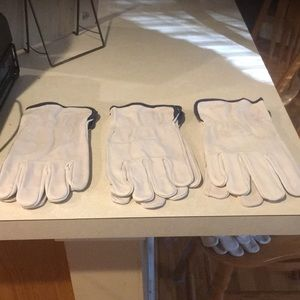 Nwot men's leather work gloves